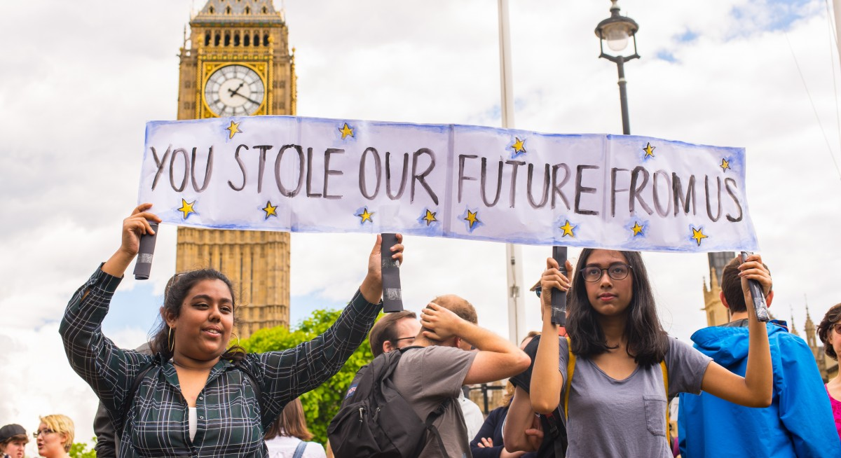 student protest brexit