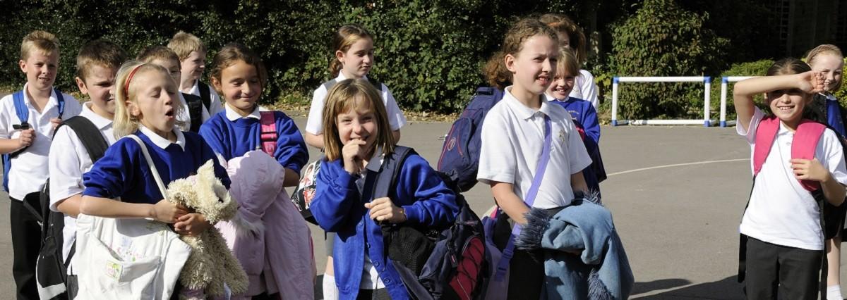 UK, school children, 10 years old, uniform