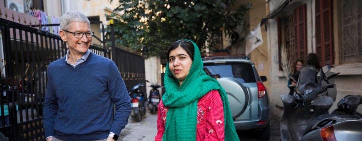 Tim Cook, Malala, Apple, girls' education
