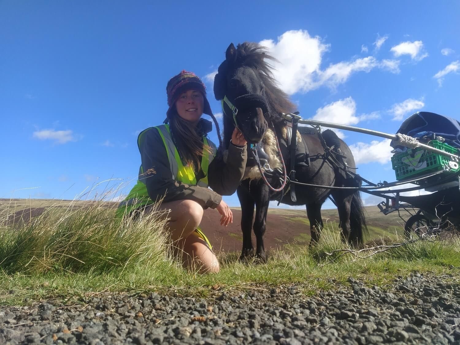 This international student walked from Spain to Scotland with her pony — here's her story