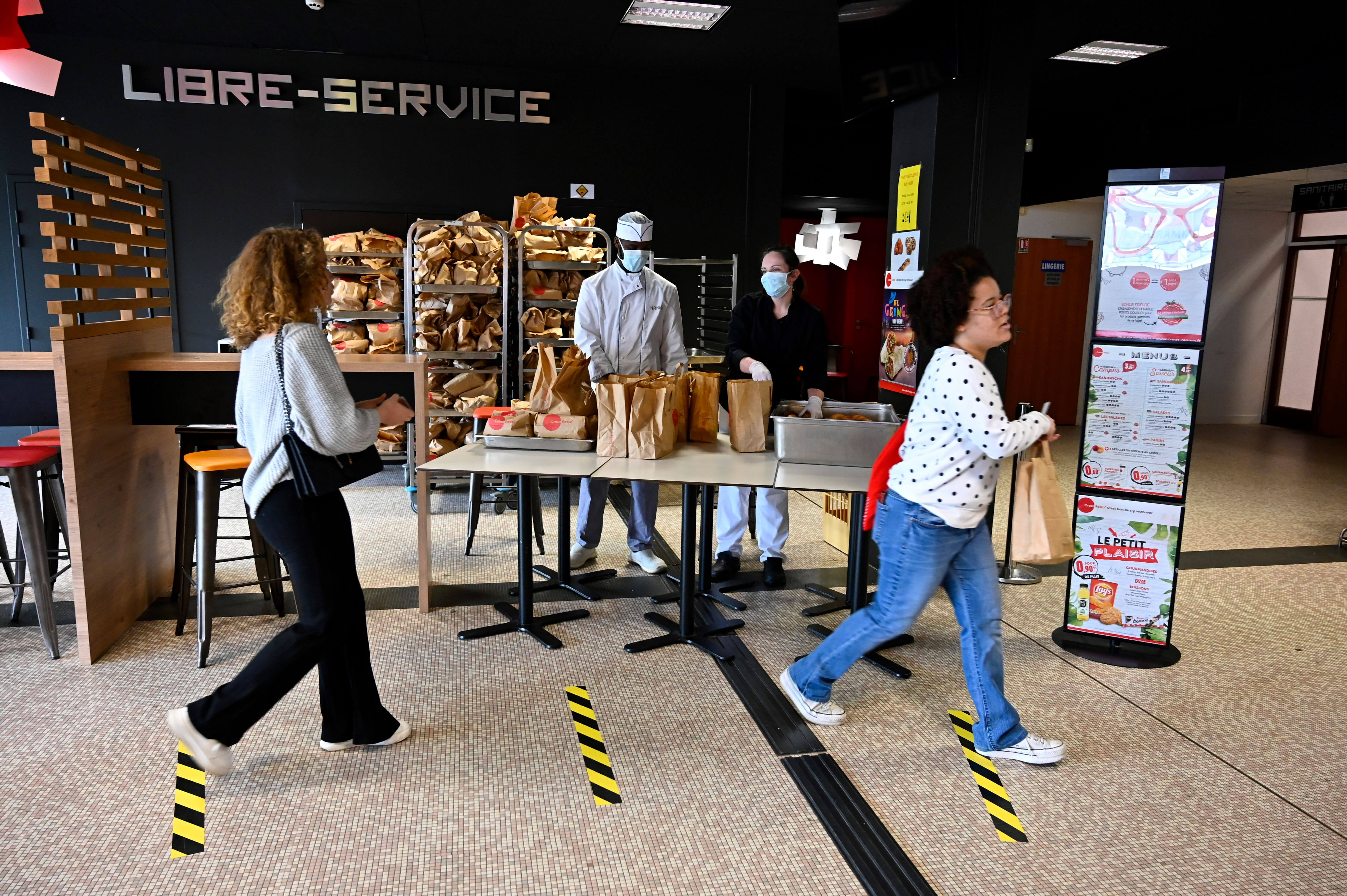 France offers Covid-hit students cheap meals
